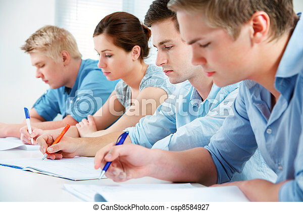 group of students in classroom - csp8584927