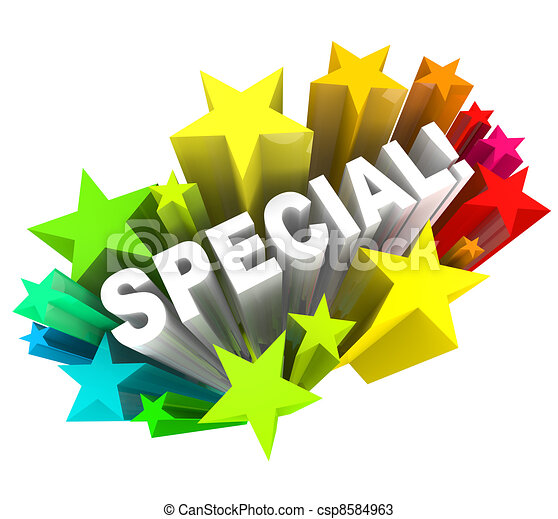 Special Word Stars Unique Savings Sale Event - csp8584963