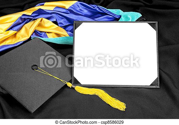 Graduation diploma - csp8586029