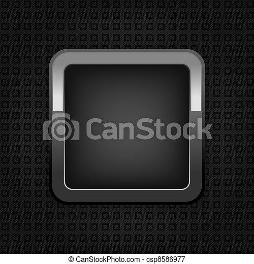 Chrome web button, plastic texture, empty button - csp8586977