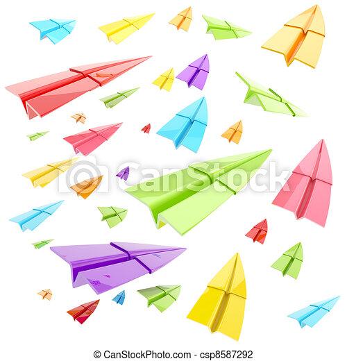 paper plane stock illustration - photo #25