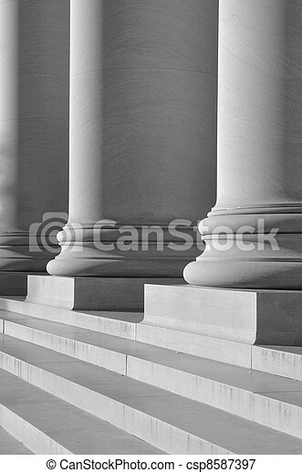 Pillars of Law and Education - csp8587397
