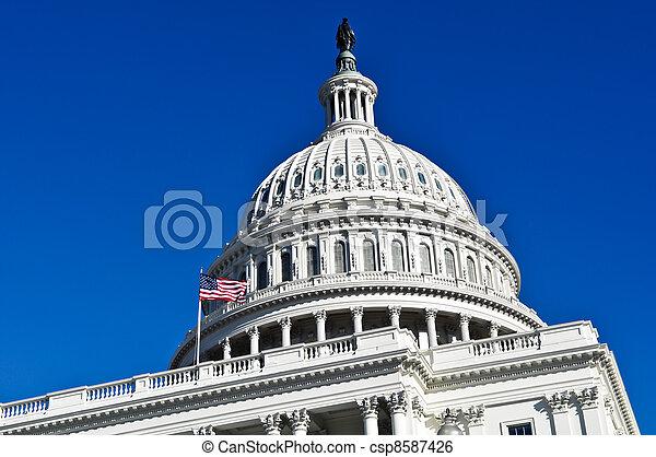 Washington DC Capitol Hill Building Dome - csp8587426