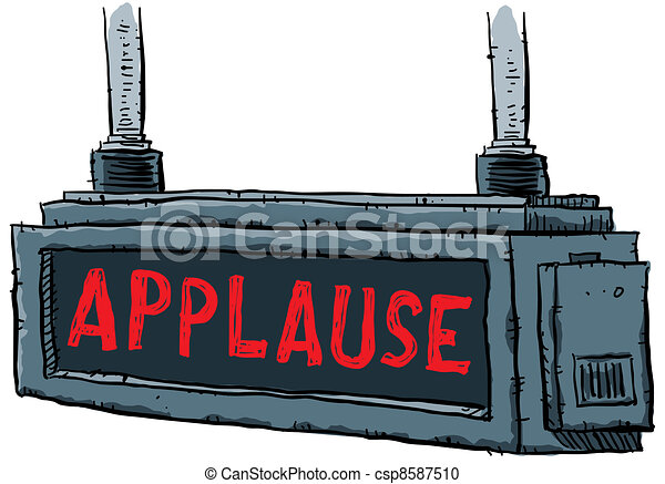 Stock Illustration of Applause Sign - A lit applause sign ...