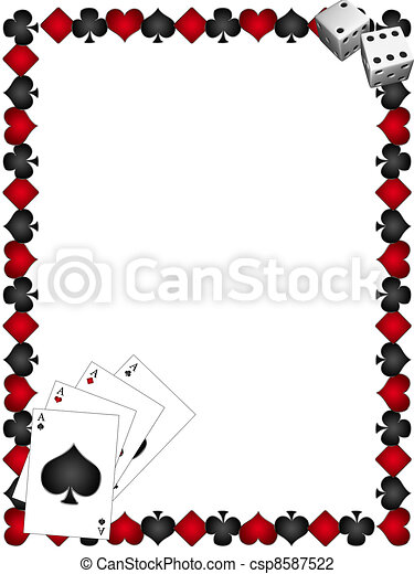 Playing Cards with border - csp8587522