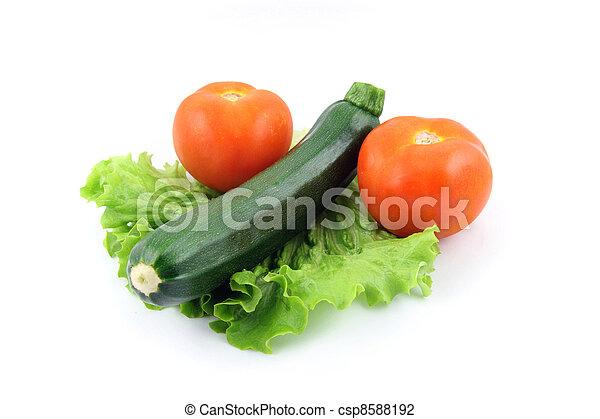 zucchini and tomato on salad - csp8588192