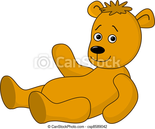 Teddy-bear laying - csp8589042