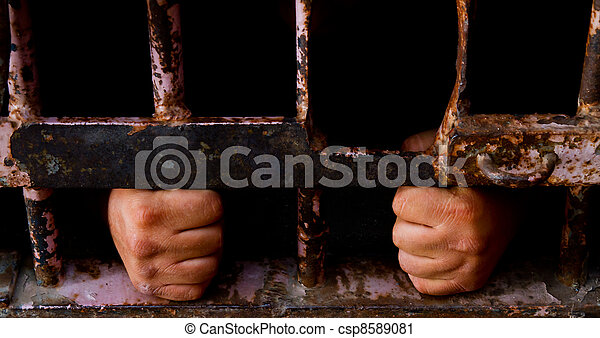 Trapped behind the bars - csp8589081