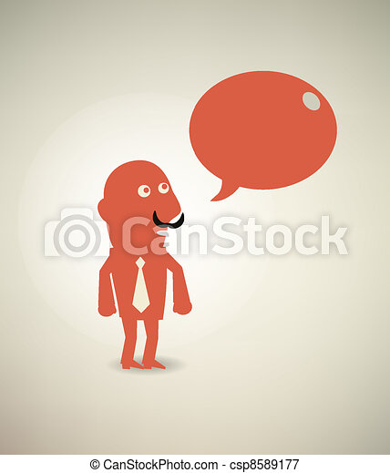 businessman talking - csp8589177