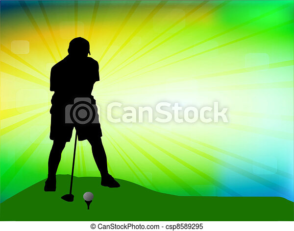 Golfer on field - csp8589295