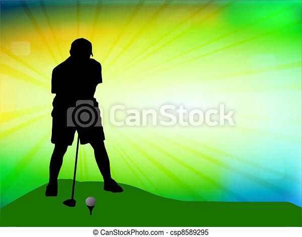 Golfer on field - csp8589295