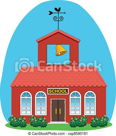 vector country school house  - csp8590181