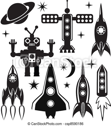 vector stylized space symbols - csp8590186