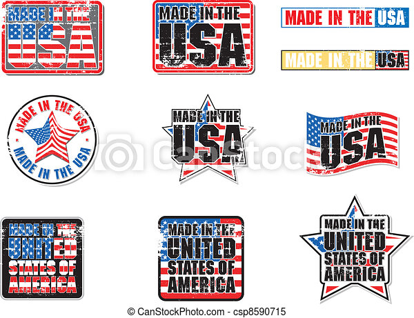 Made in USA vector Graphic - csp8590715