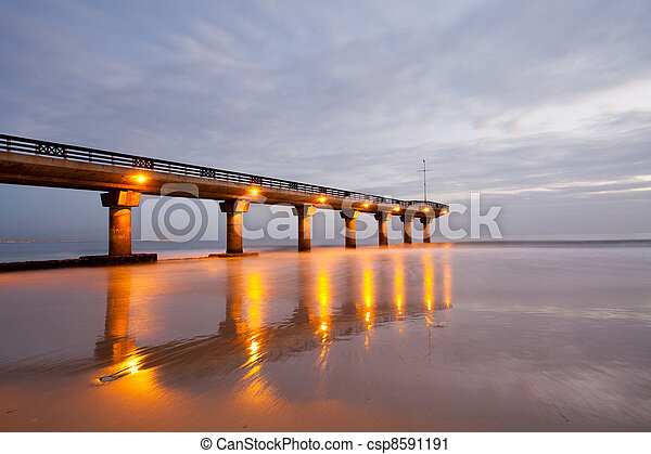 shark rock pier in Port Elizabeth - csp8591191