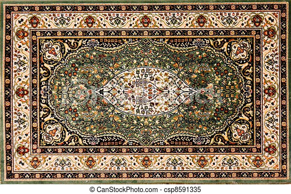 Stock Bilder Von Arabisches Teppich Mit Blumen Muster