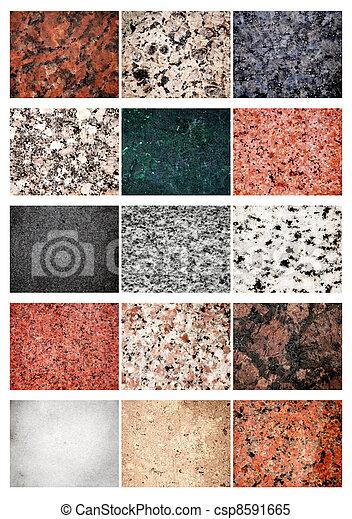 images de granit collage marbre collage 15 diff rent csp8591665 recherchez des. Black Bedroom Furniture Sets. Home Design Ideas