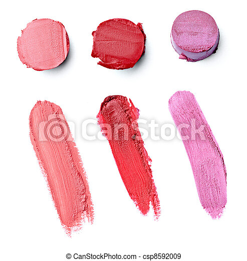 lipstick make up beauty smudged - csp8592009