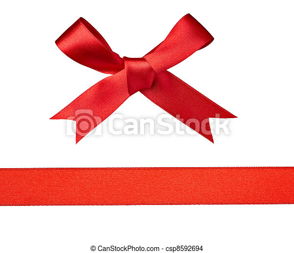 knot ribbon greeting gift - csp8592694