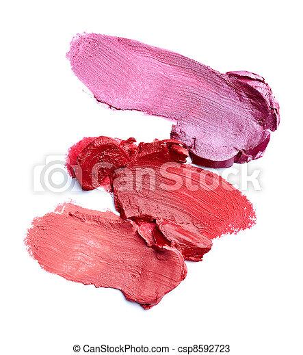 lipstick make up beauty smudged - csp8592723