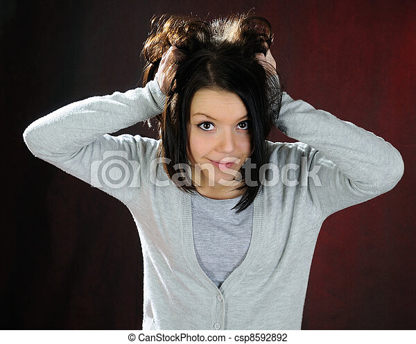 Funny girl . - csp8592892