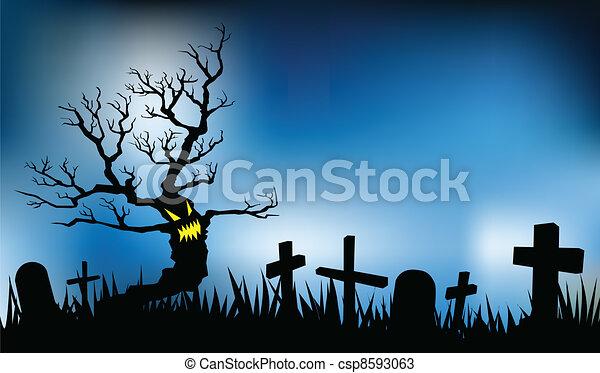 halloween night - csp8593063