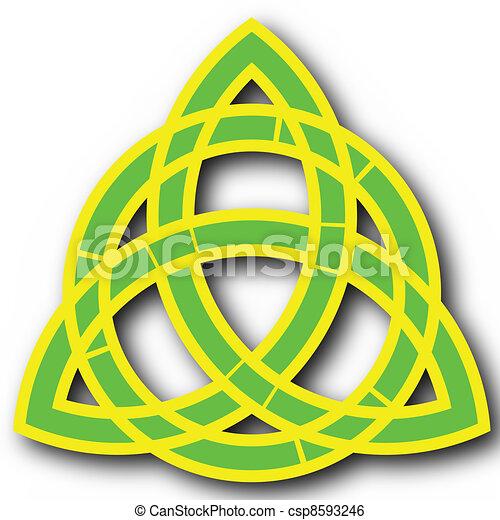 christian trinity symbol - csp8593246
