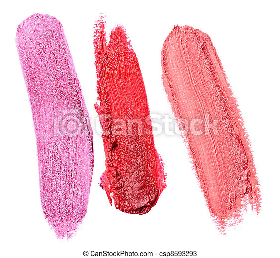 lipstick make up beauty smudged - csp8593293