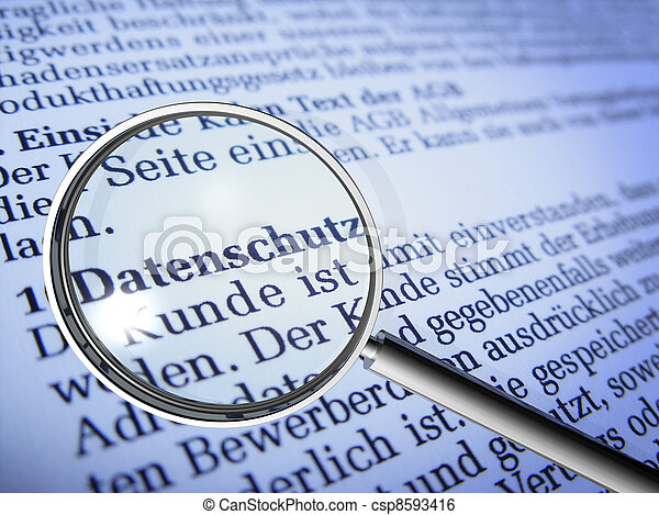 Schutz, Daten - csp8593416
