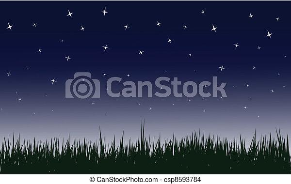 starry night vector illustrations - csp8593784