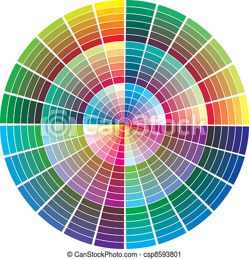 Vector color palette - csp8593801