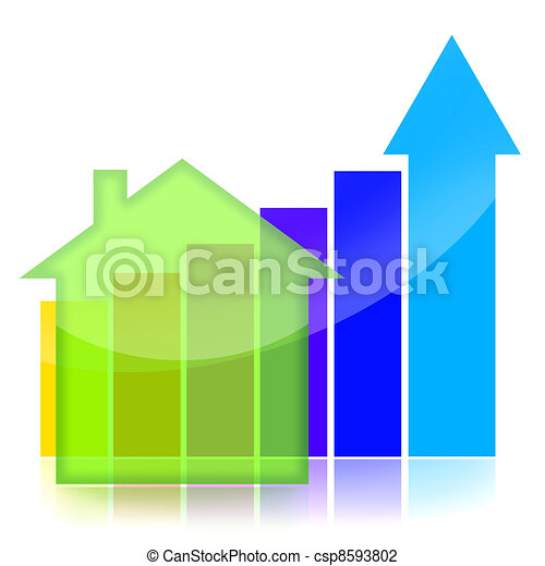 Real estate  business graph - csp8593802