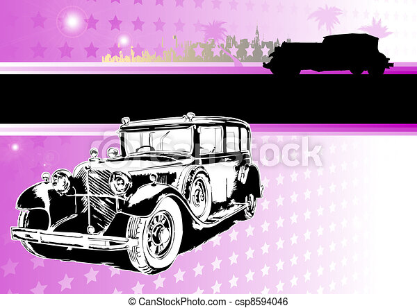 passion of old cars - csp8594046