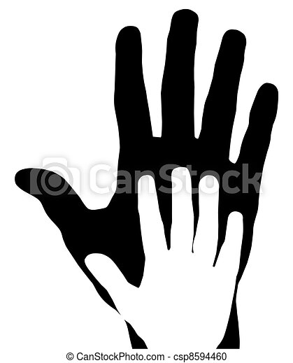 Vector Clipart of hands - vector hands mother and child csp8594460 ...