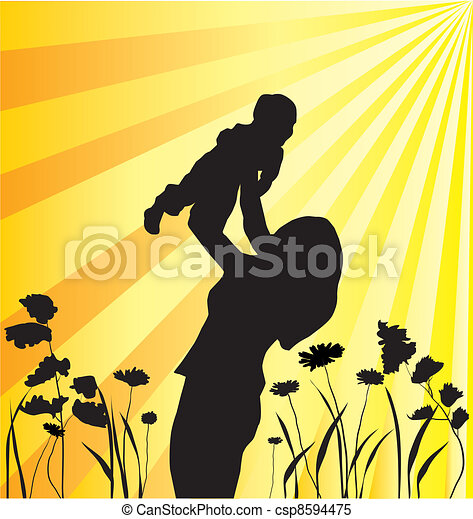 mother and child - csp8594475