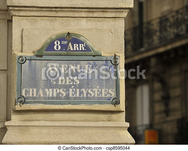 Champs Elysees sign - csp8595044