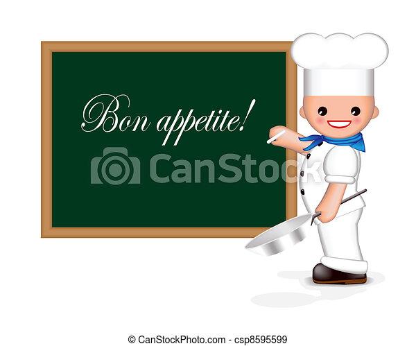 Happy chef (Bon appetite!) - csp8595599