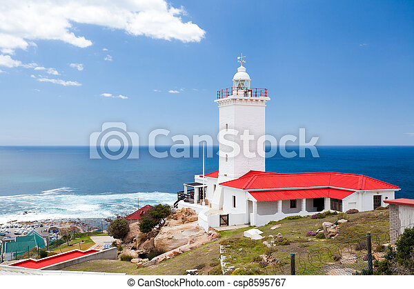 lighthouse in Mossel bay, south africa - csp8595767