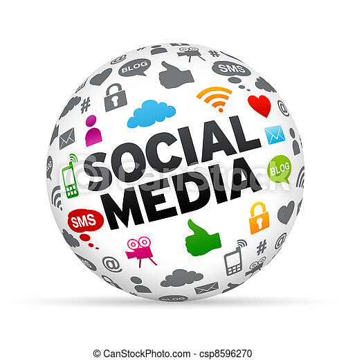 Social Media Sphere - csp8596270