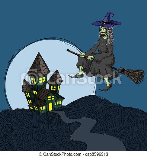 haunted house - csp8596313