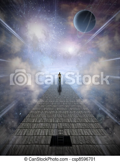 Mans Journey of the Soul - csp8596701