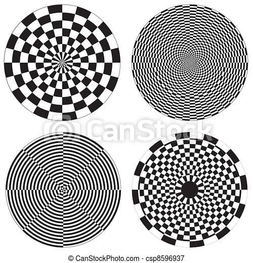 Checkerboard, Dartboard Designs - csp8596937