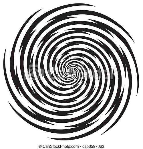 Hypnosis Spiral Design Pattern - csp8597063
