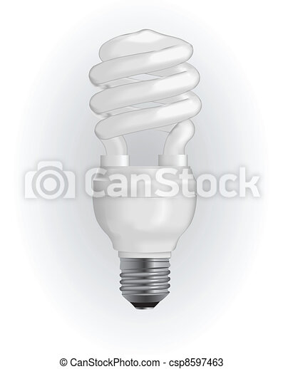 Energy saving light bulb - csp8597463