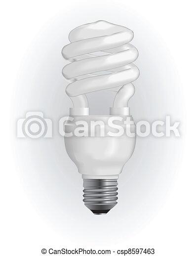 Energy saving light bulb - csp8597463