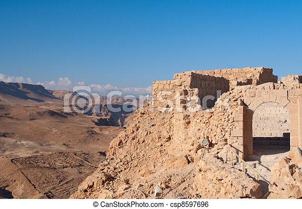 Masada fortress ruins - csp8597696