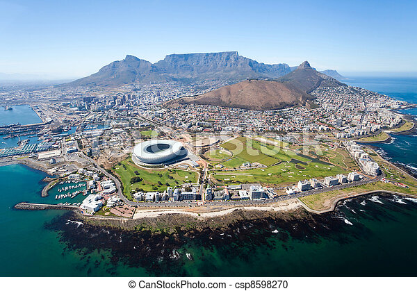 overall aerial view of Cape Town - csp8598270