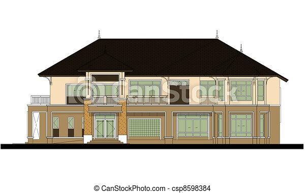 house elevation , color scheme - csp8598384