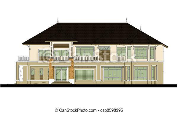house elevation , color scheme - csp8598395