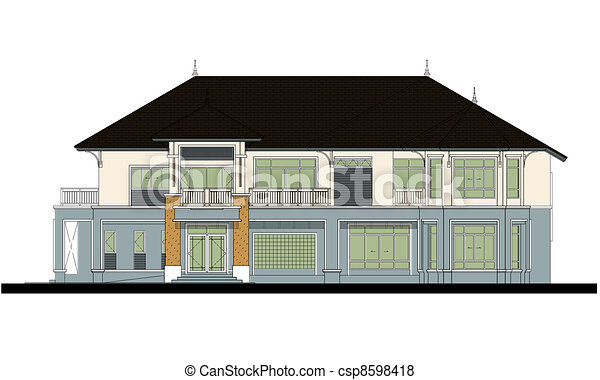 house elevation , color scheme - csp8598418